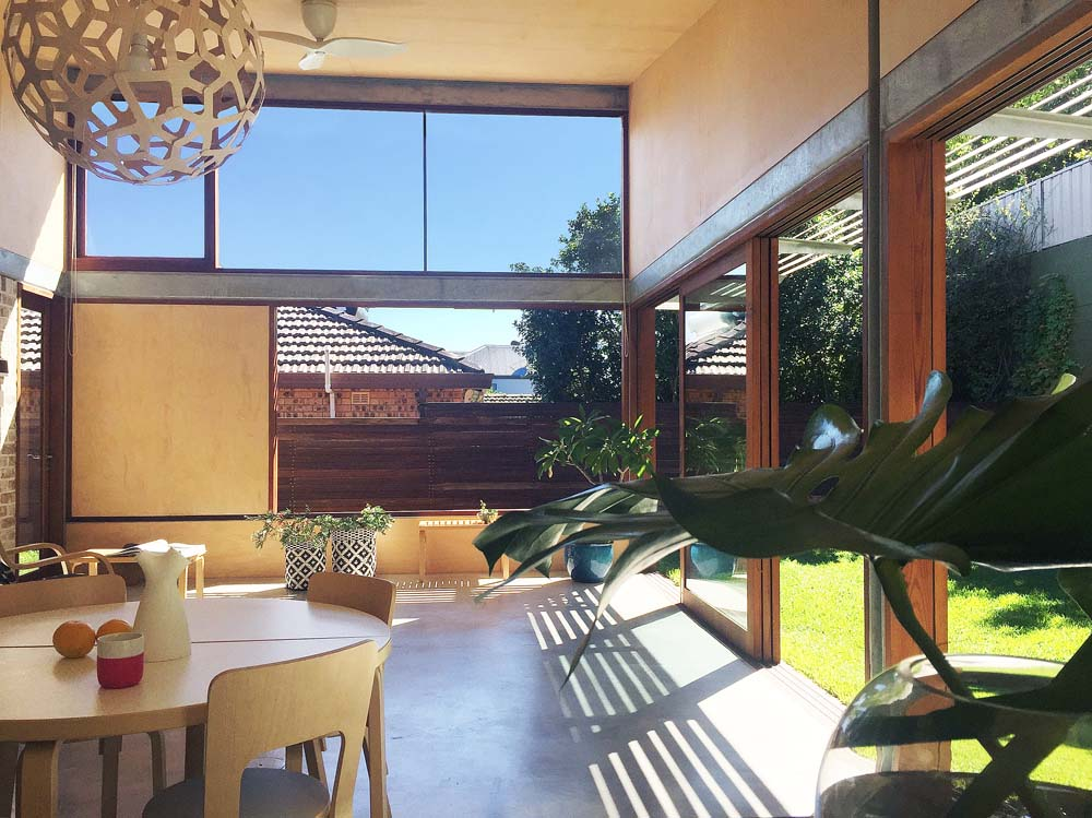 custom homes australia Marrickville Home Renovation - indoor dining view room to outside - Clockwork Constructions