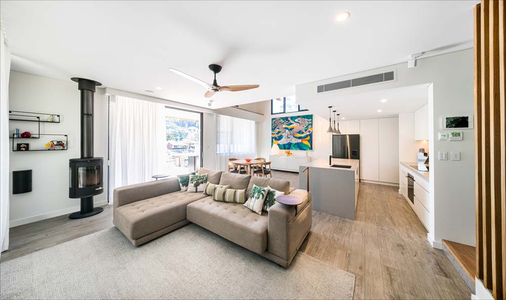 Woronora Home Renovation - Modern living room and kitchen area