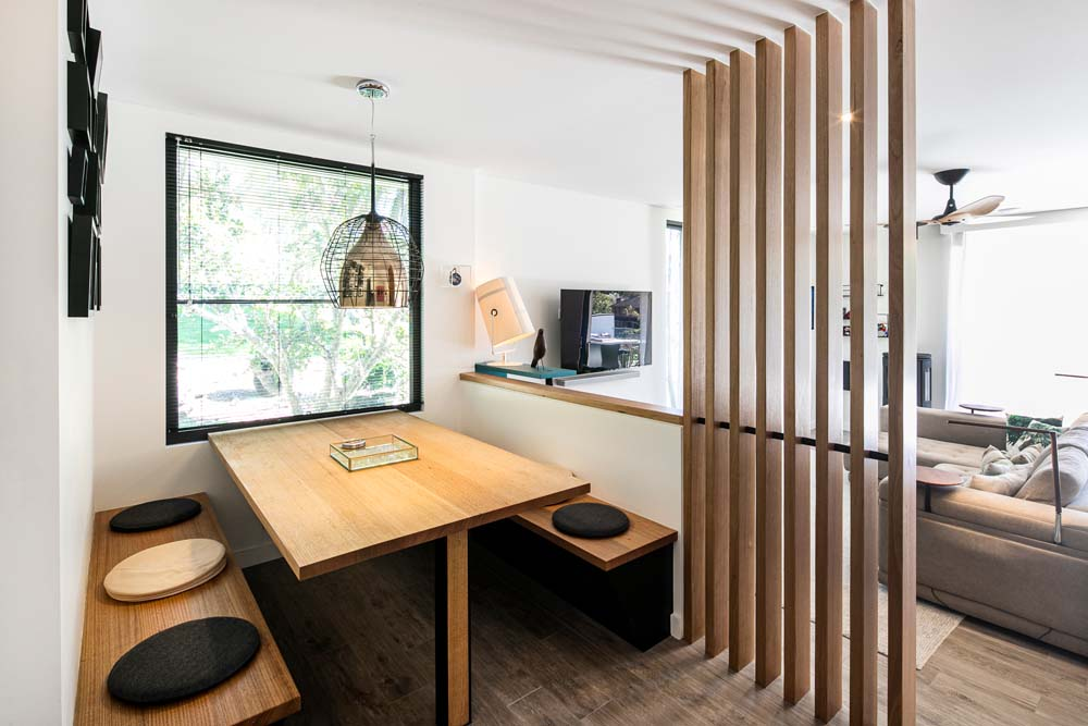 Woronora Home Renovation - Dining and living area - Elegant wood work