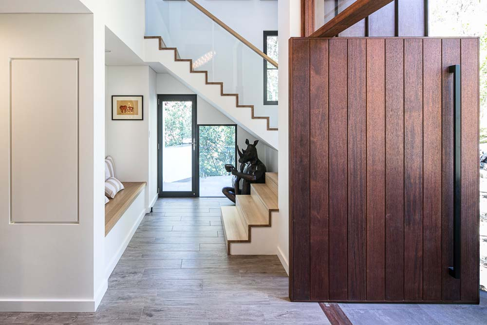Woronora Home Renovation - Front foor and hallway - Contemporary style home