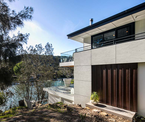 sydney luxury builders Woronora Home Renovation - Outdoor side angle view 3 with sea facing - Clockwork Constructions