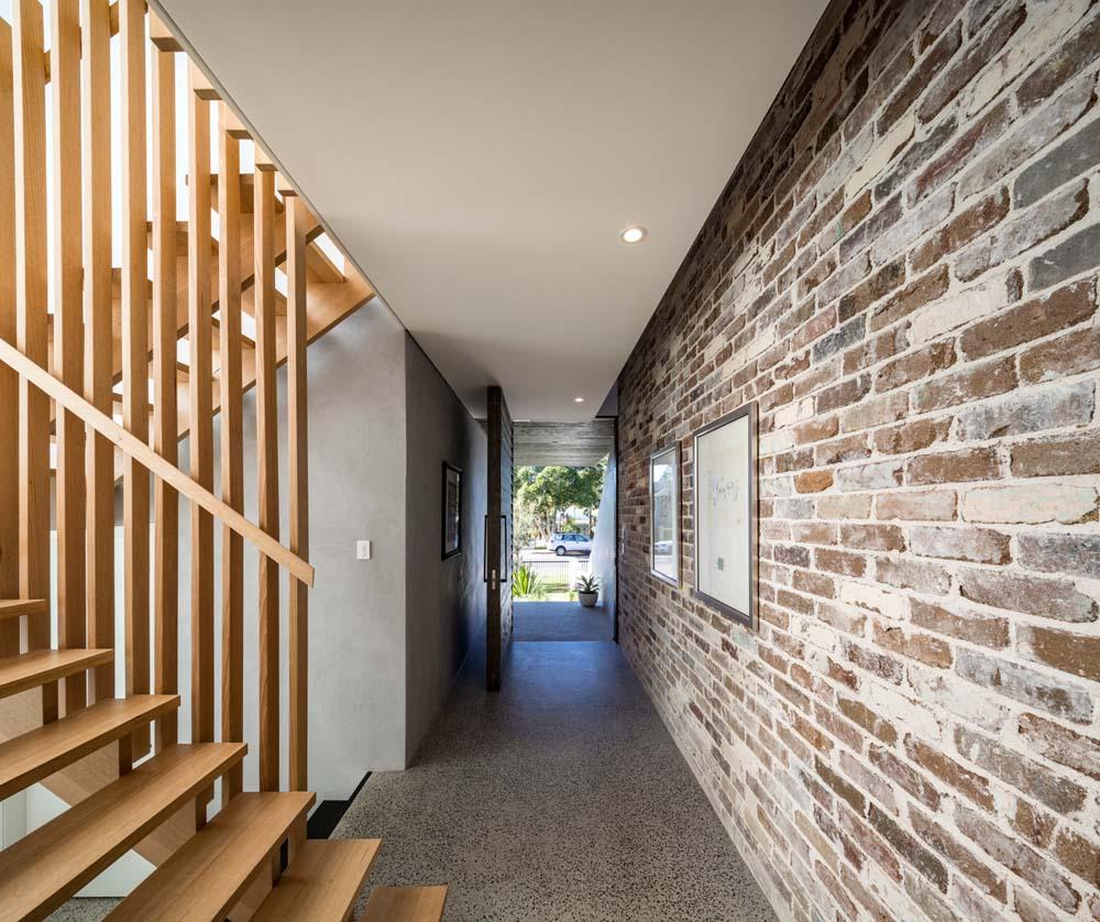 best builders sydney - custom stairs Cronulla Duplex - front door way and hallway - Clockwork Constructions