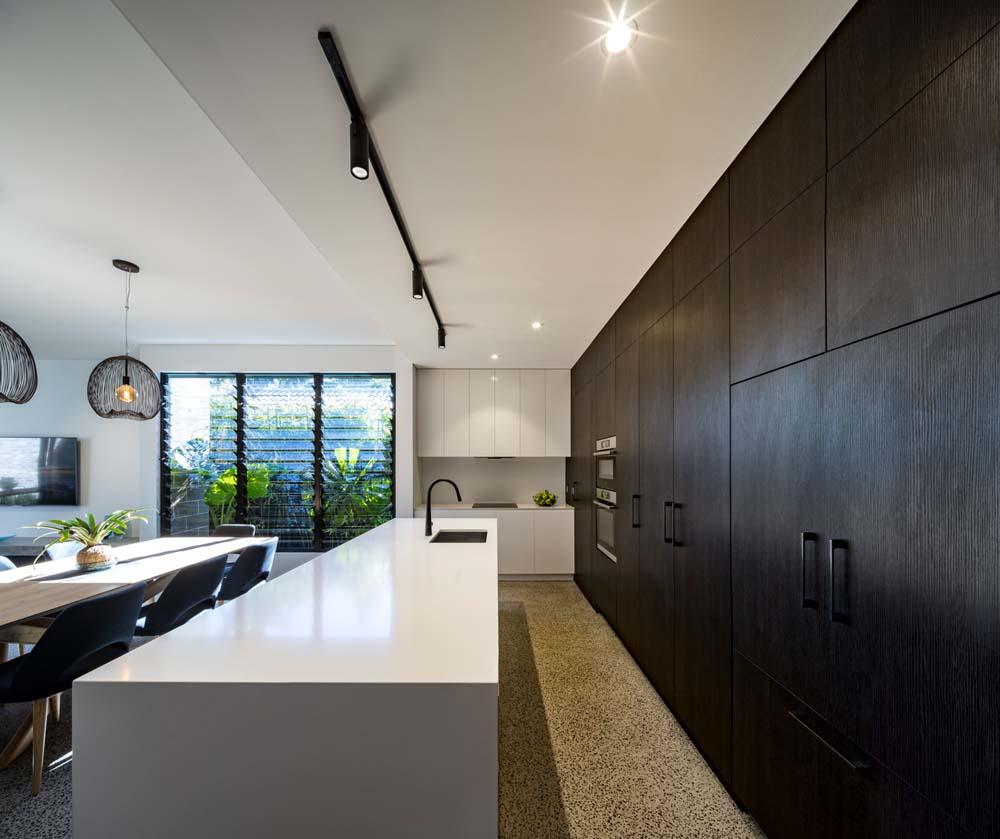 best builders sydney - builder renovations Cronulla Duplex - modern kitchen shot - side angle image - Clockwork Constructions