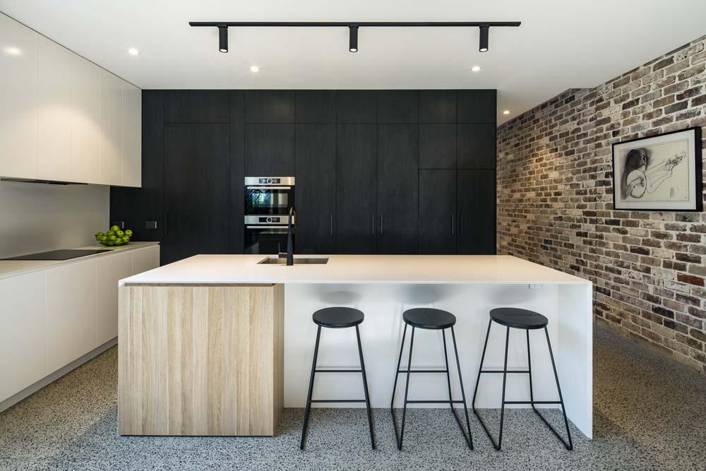 best builders sydney - custom home builders Cronulla Duplex - modern kitchen shot - Clockworks Constructions