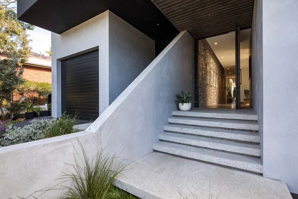 residential builders - Home renovation cronulla sydney - modern patio with stone work - Clockworks Constructions
