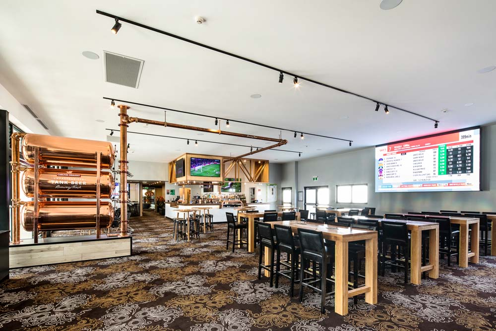 Kings park tavern - Lounge and bar area with distillery