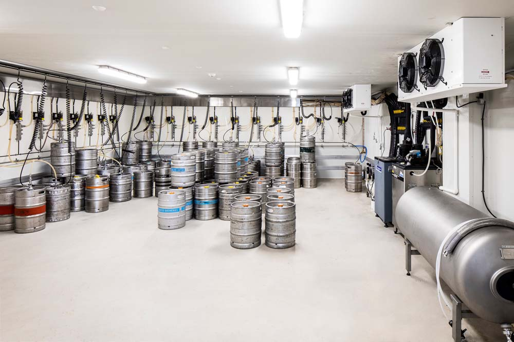 Kings park tavern - Commercial Renovation - keg room