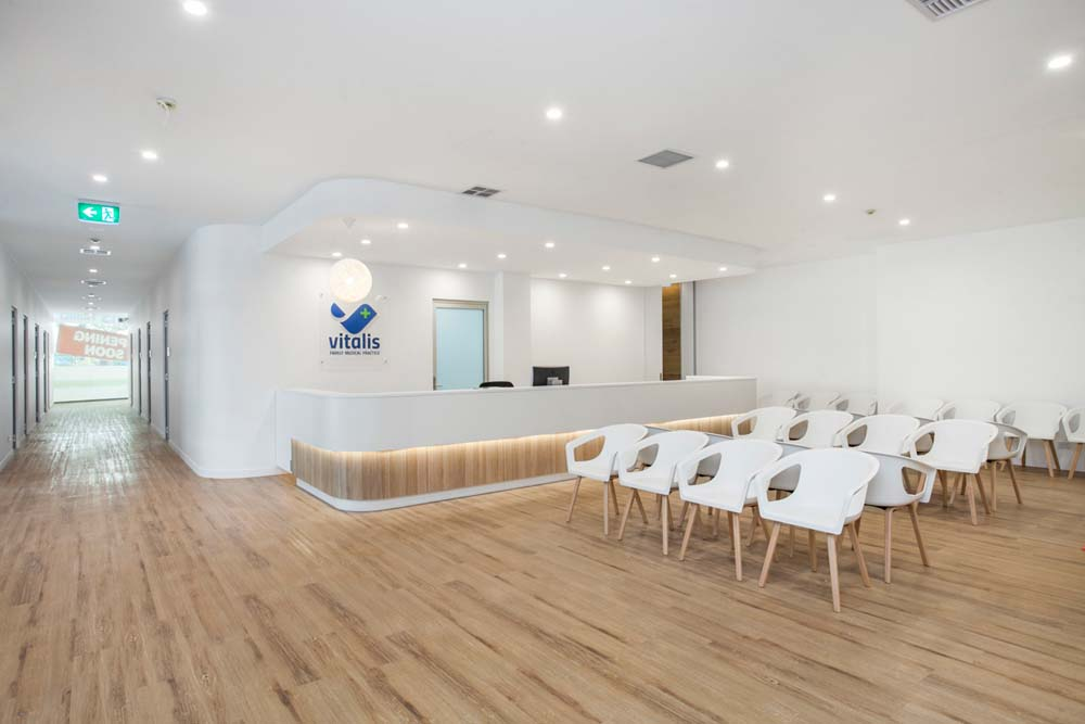 Kirrawee Medical Centre - Healthcare Renovation - Front office and patient waiting area 3