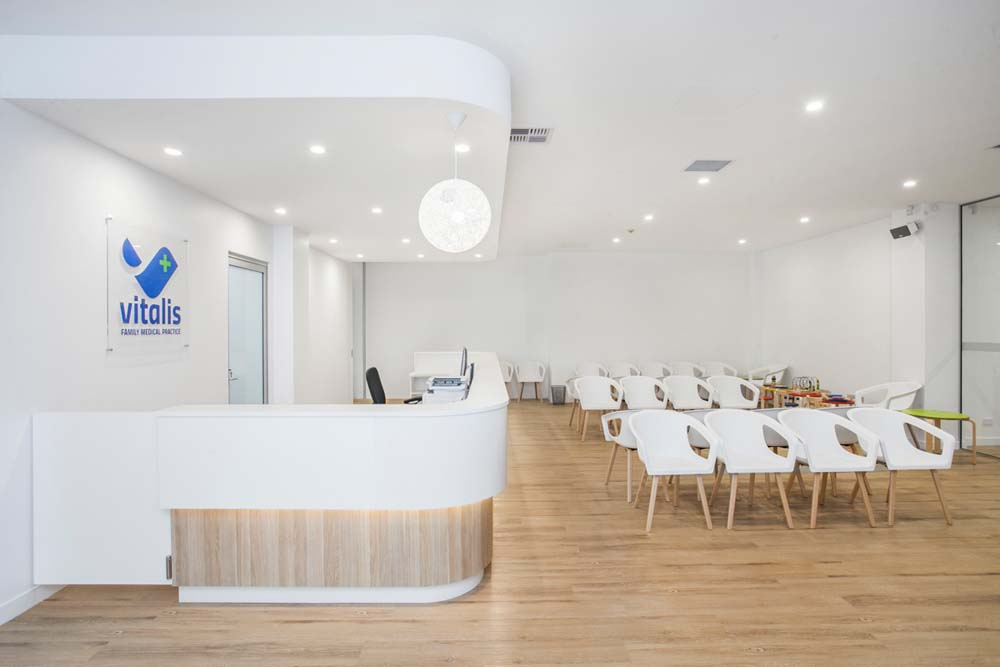 Kirrawee Medical Centre - Healthcare Renovation - Front office and patient waiting area