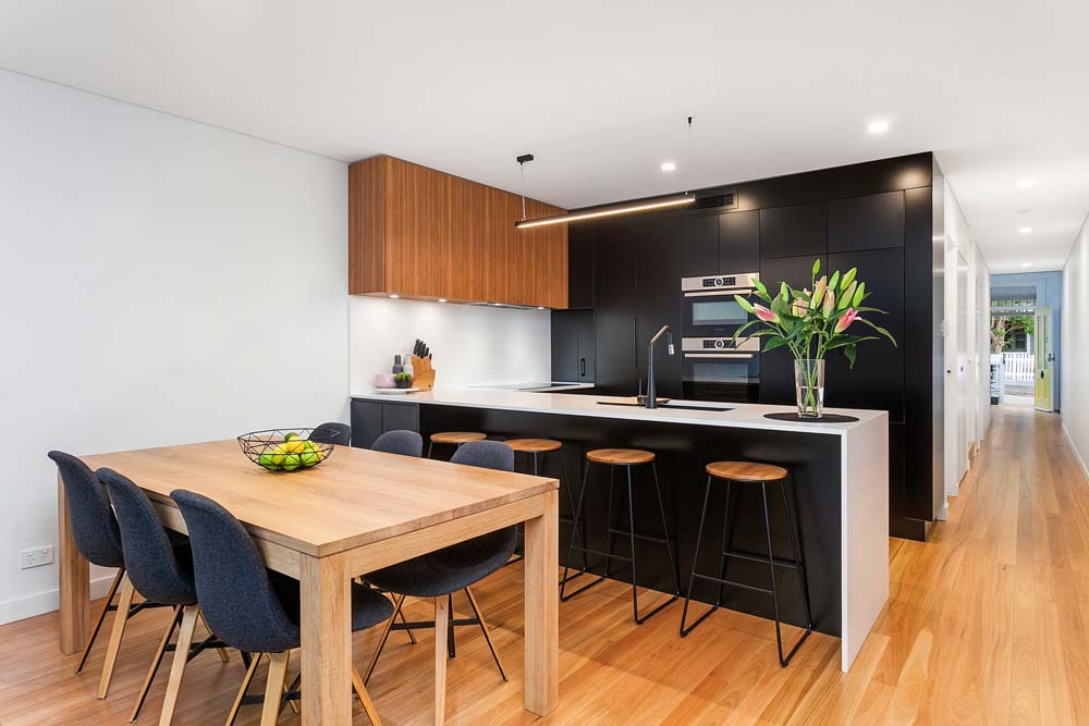Balmain - Home Renovation - Dining and modular kitchen area - Clockwork Constructions