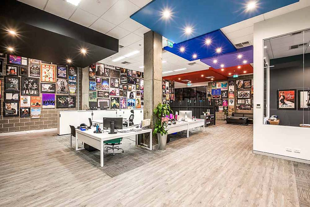 Big Picture commercial renovation - main office space - Clockwork Constructions