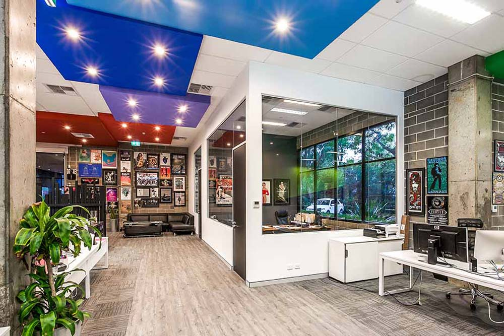 Big Picture commercial renovation - office space renovated with creative and quirky fittings - Clockwork Constructions